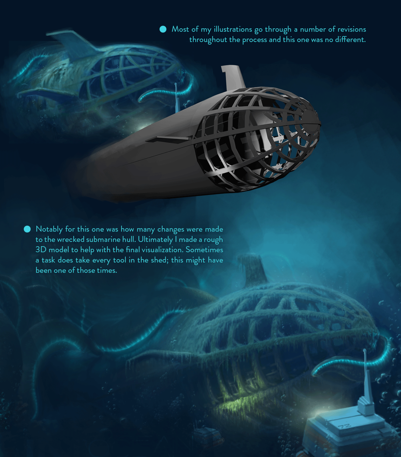 conceptart digitalpainting ILLUSTRATION  Ocean painting   photoshop Retro Scifi