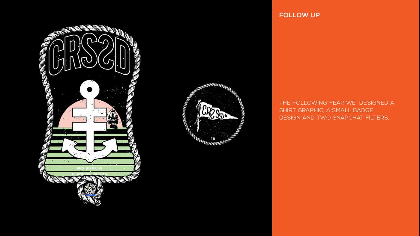 concert festival merchandise snapchat filter art direction  design branding