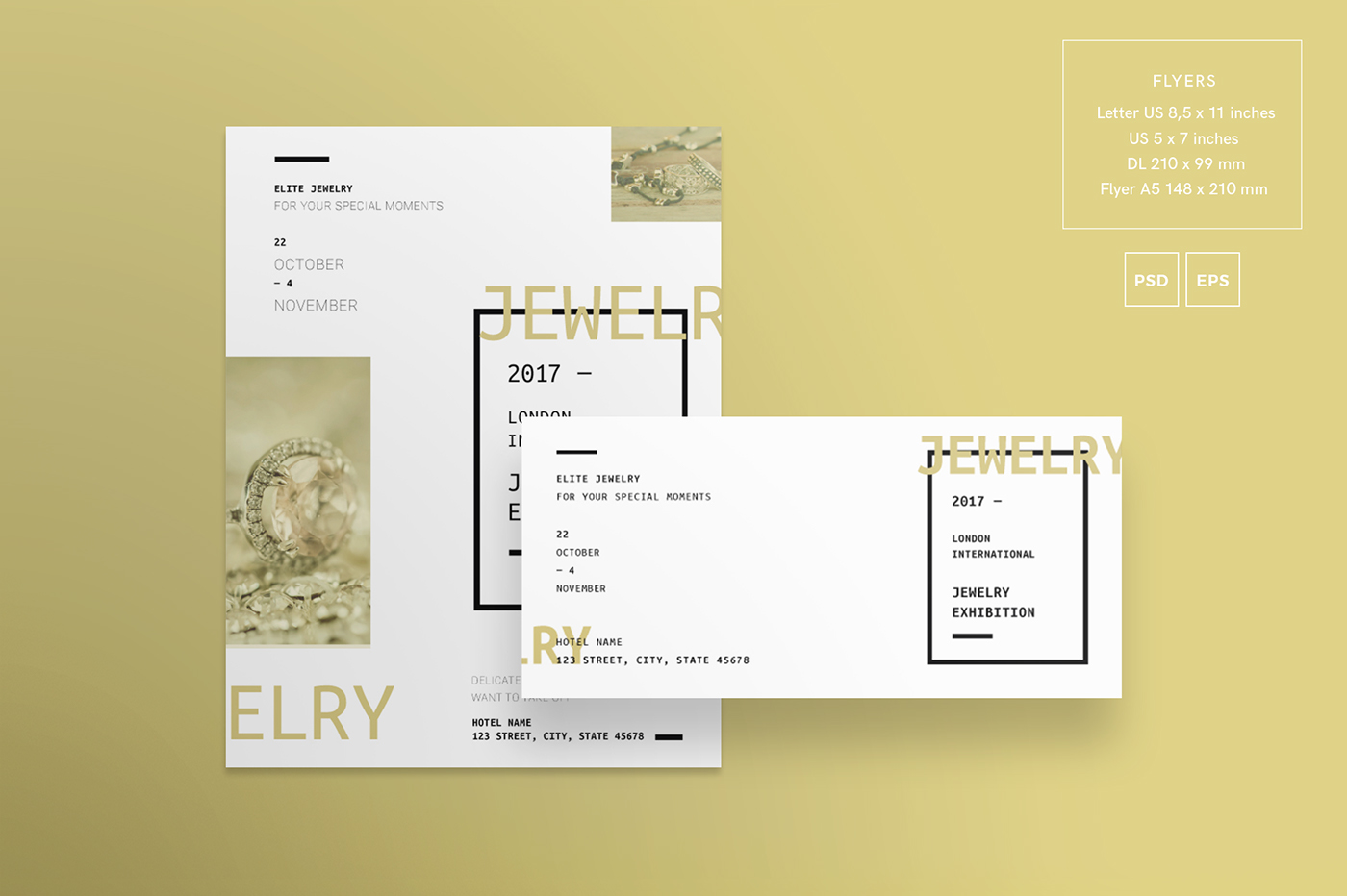 jewelry exhibition modern and creative templates on behance