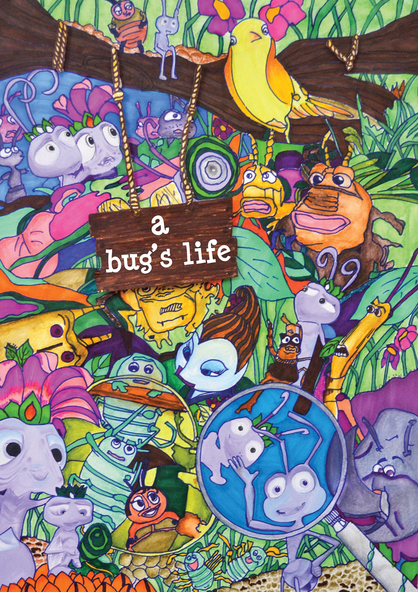 This is a picture of Genius A Bug's Life Poster