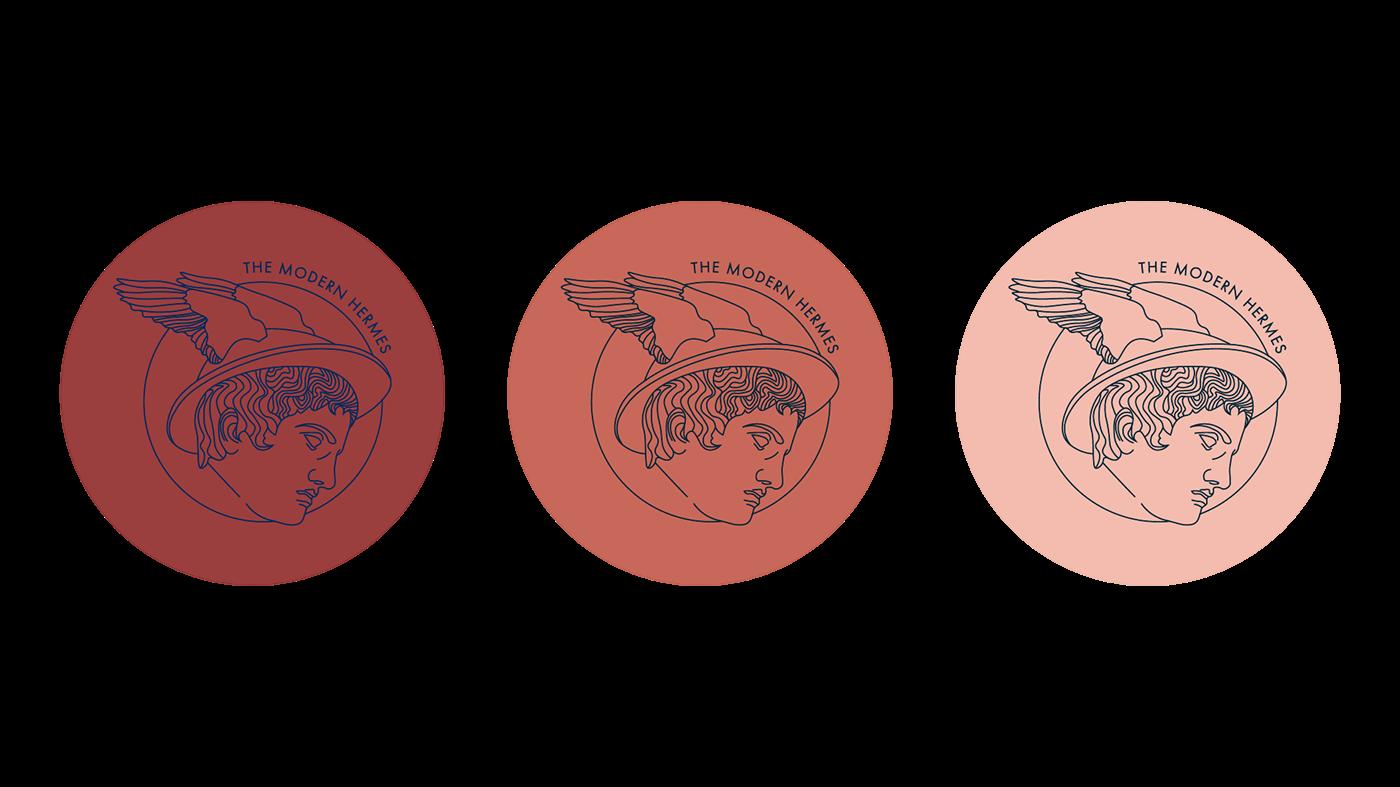 The Modern Hermes Logo Branding On Behance