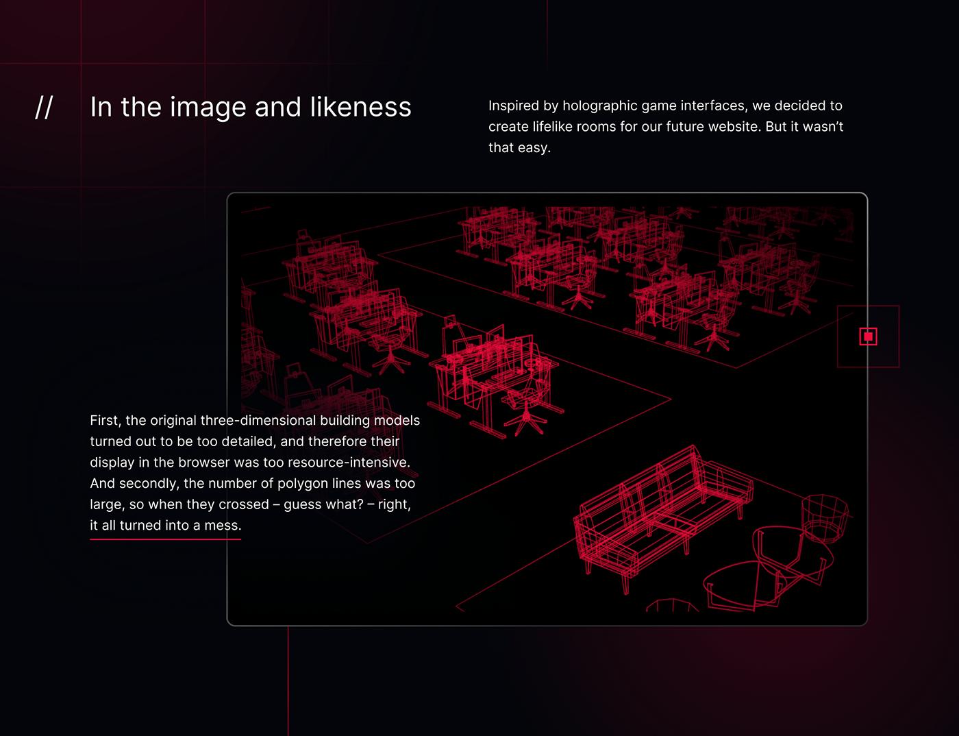 3D dark facility Gaming interaction stylish TeamSoloMid tsm UI Website