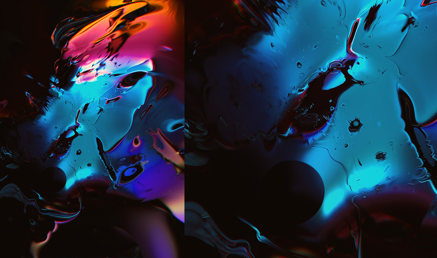 abstract artwork chemical cinema4d fractal ink Liquid octane reaction Render