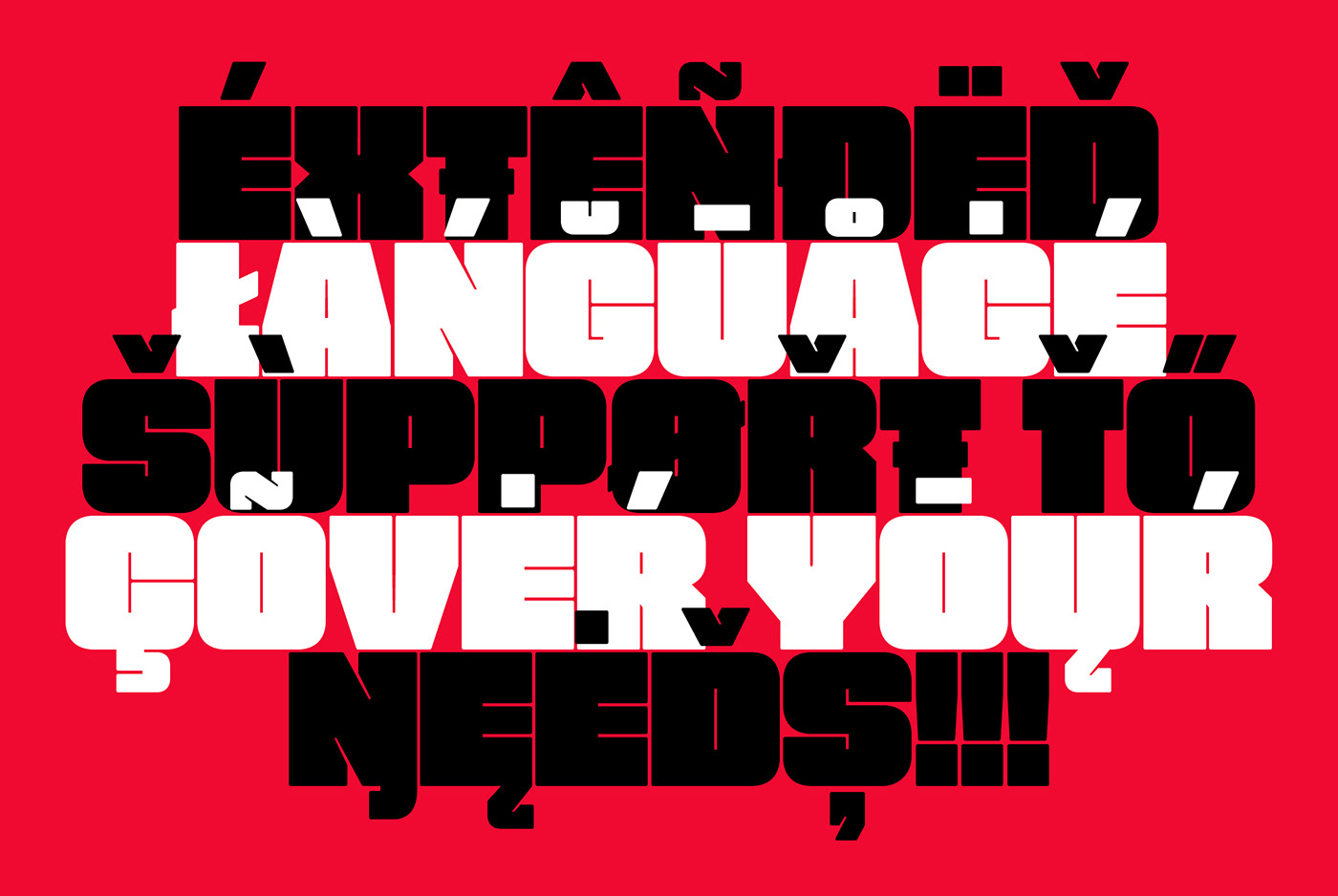 free Free font free fonts fat bold Display Typeface multilingual packing Advertising