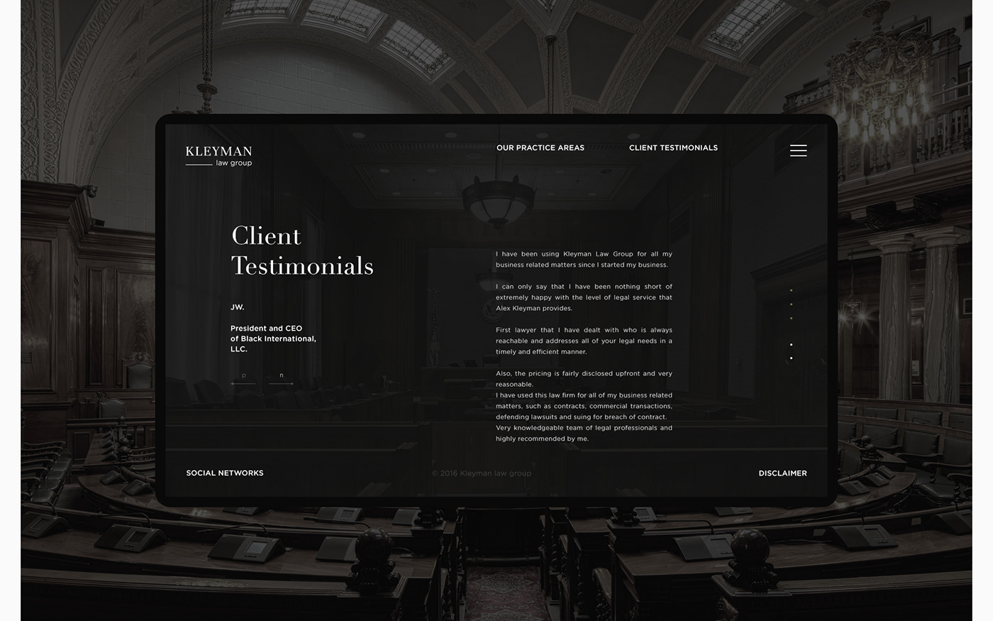 Web UI ux clean minimal law promo lawyer inspire green mobile