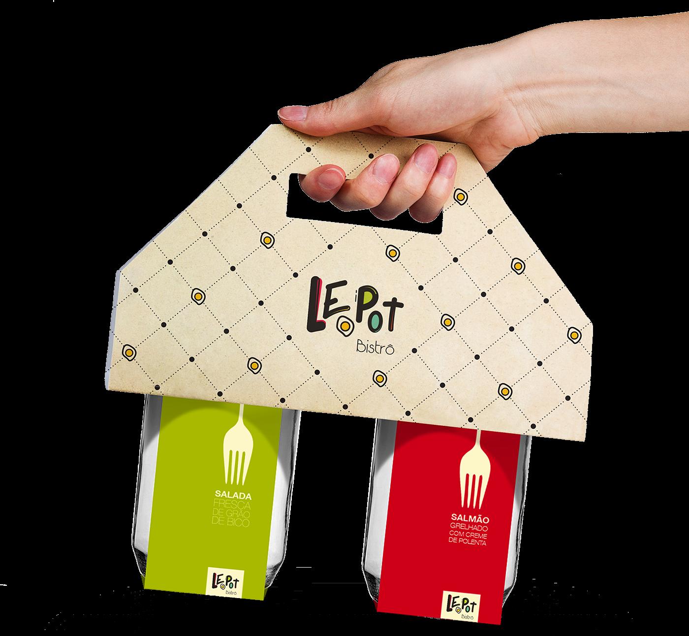 packing design brand marca bistro Food  jar pote restaurant chef Culinary salad embalagem