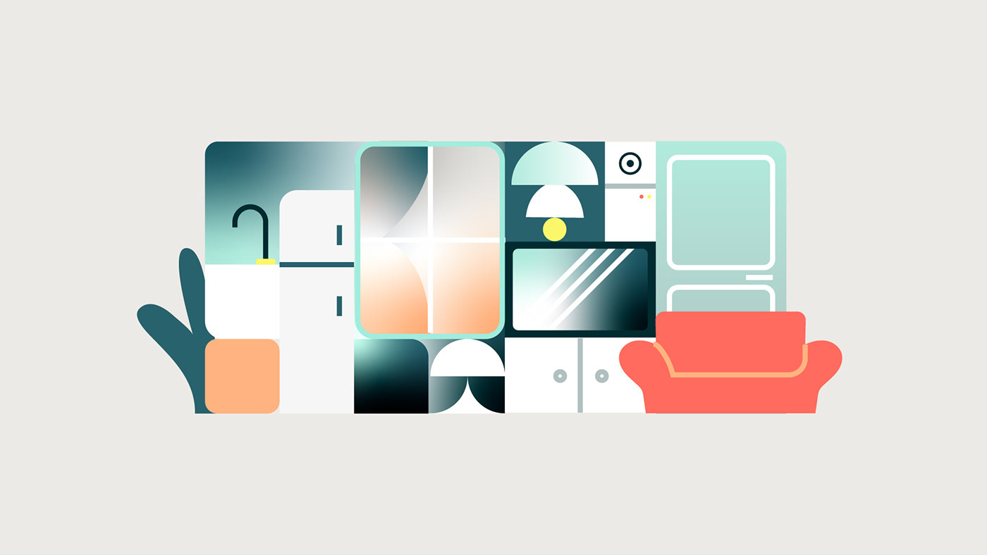 abstract Character Character design  geometry ILLUSTRATION  motion shapes tech video vr