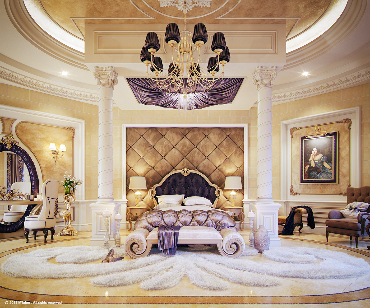 Luxury Master Bedroom On Behance