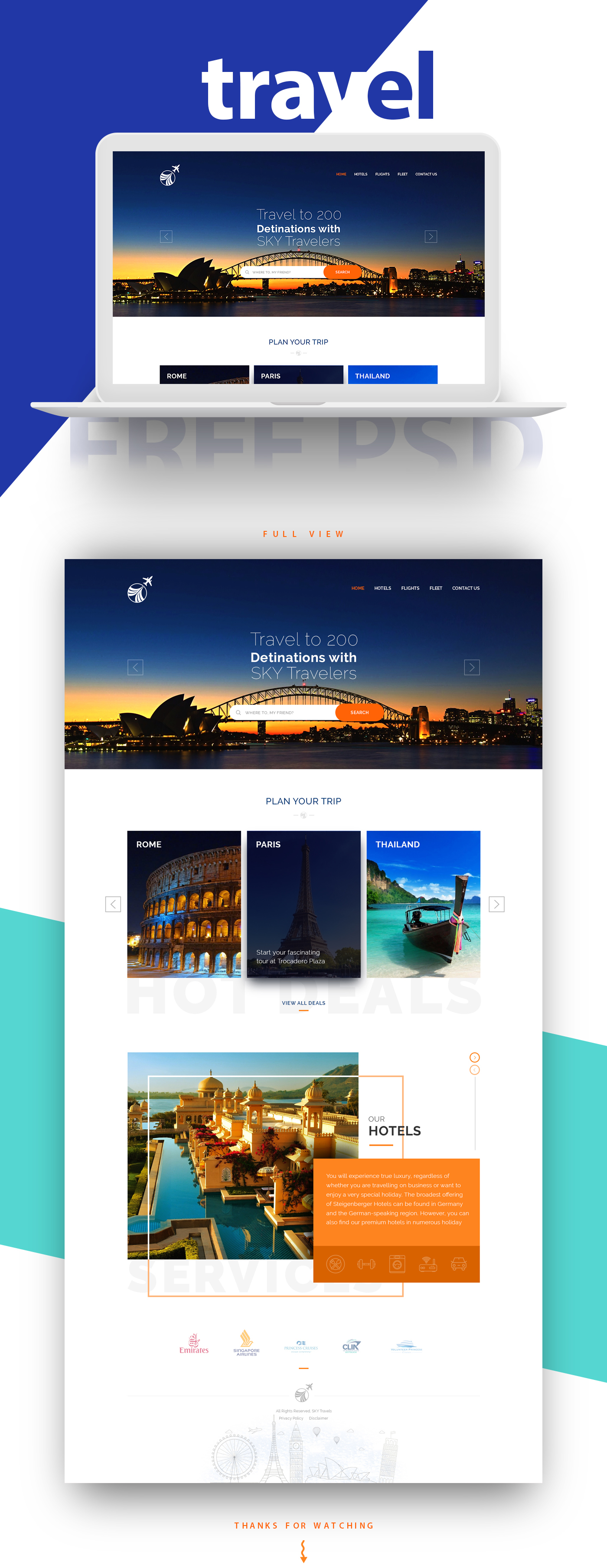 landing page UI ux Web Interaction design  free freebies psd template template clean