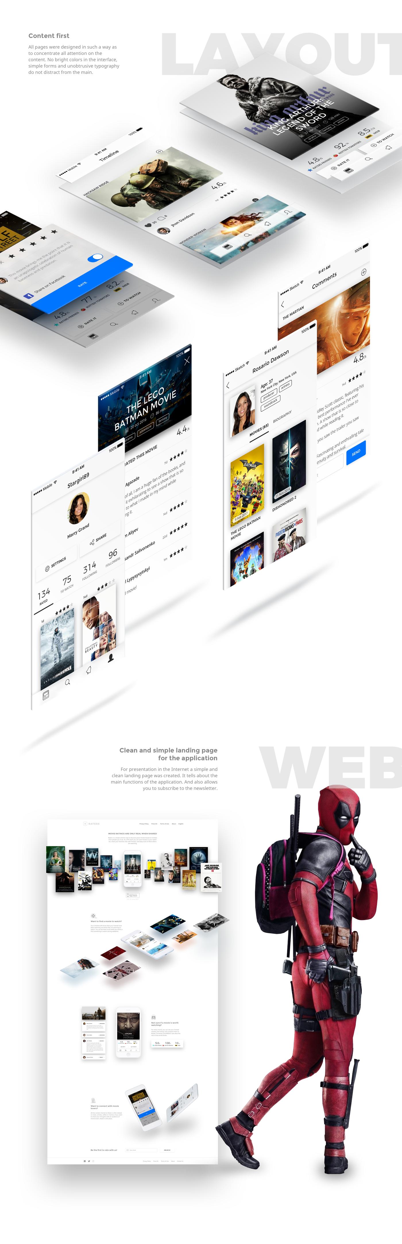 app mobile Web ios movie socialnetwork networking uiux mobile app design application