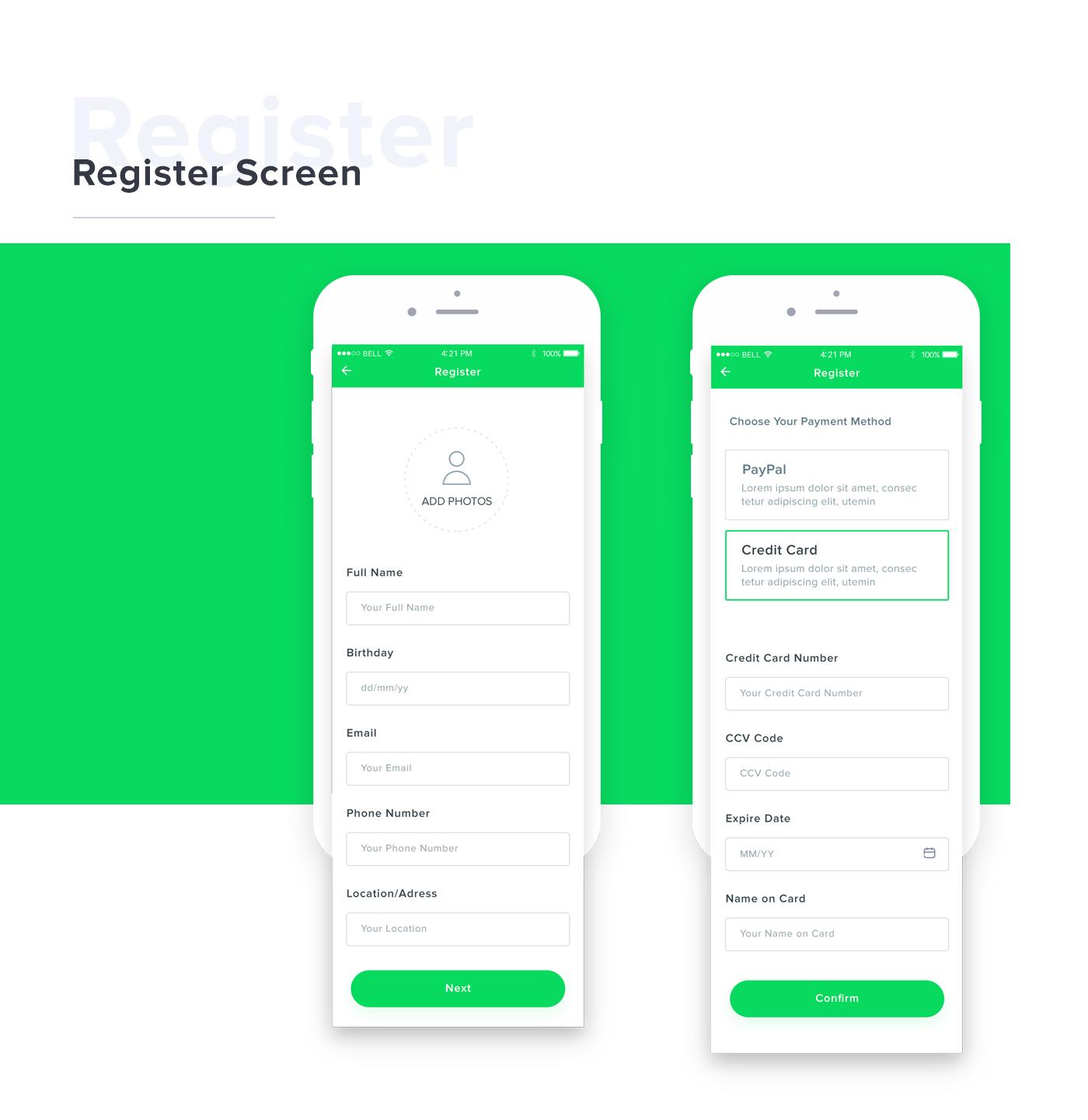 free psd download doctor portofolio mobile ios design clean app