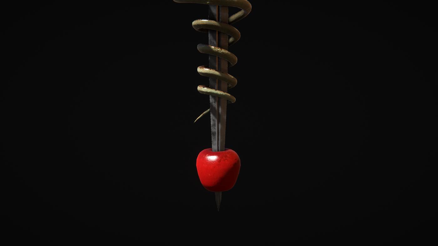 snake Sword 3D design forbidden fruit