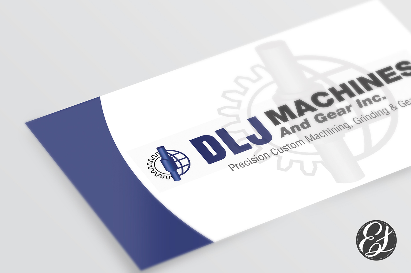 DLJ Machines and Gear Company Business Card Design on Behance