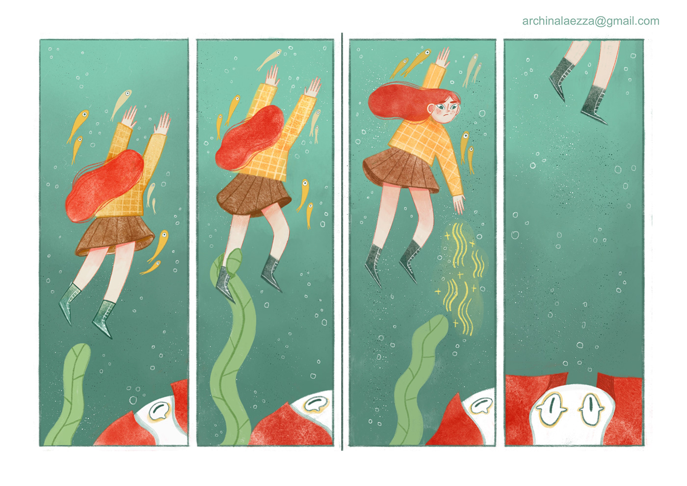 Character design  digital illustration digital watercolor ILLUSTRATION
