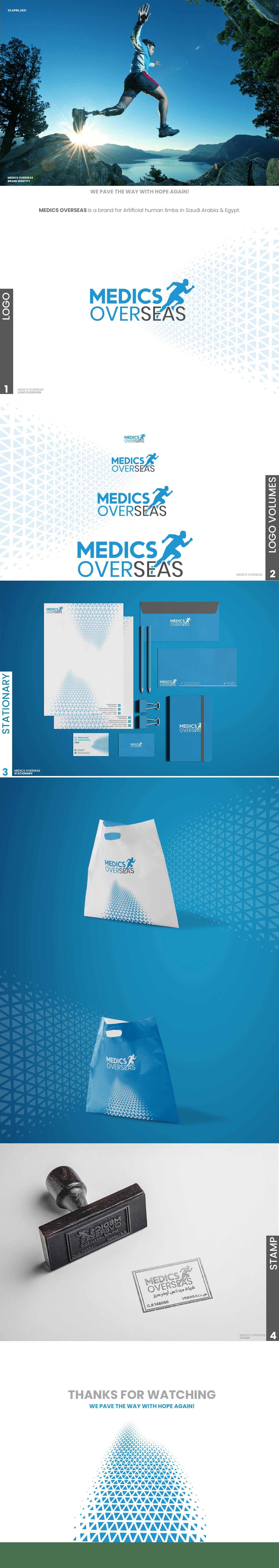 branding  Illustrator logo medics visual identity