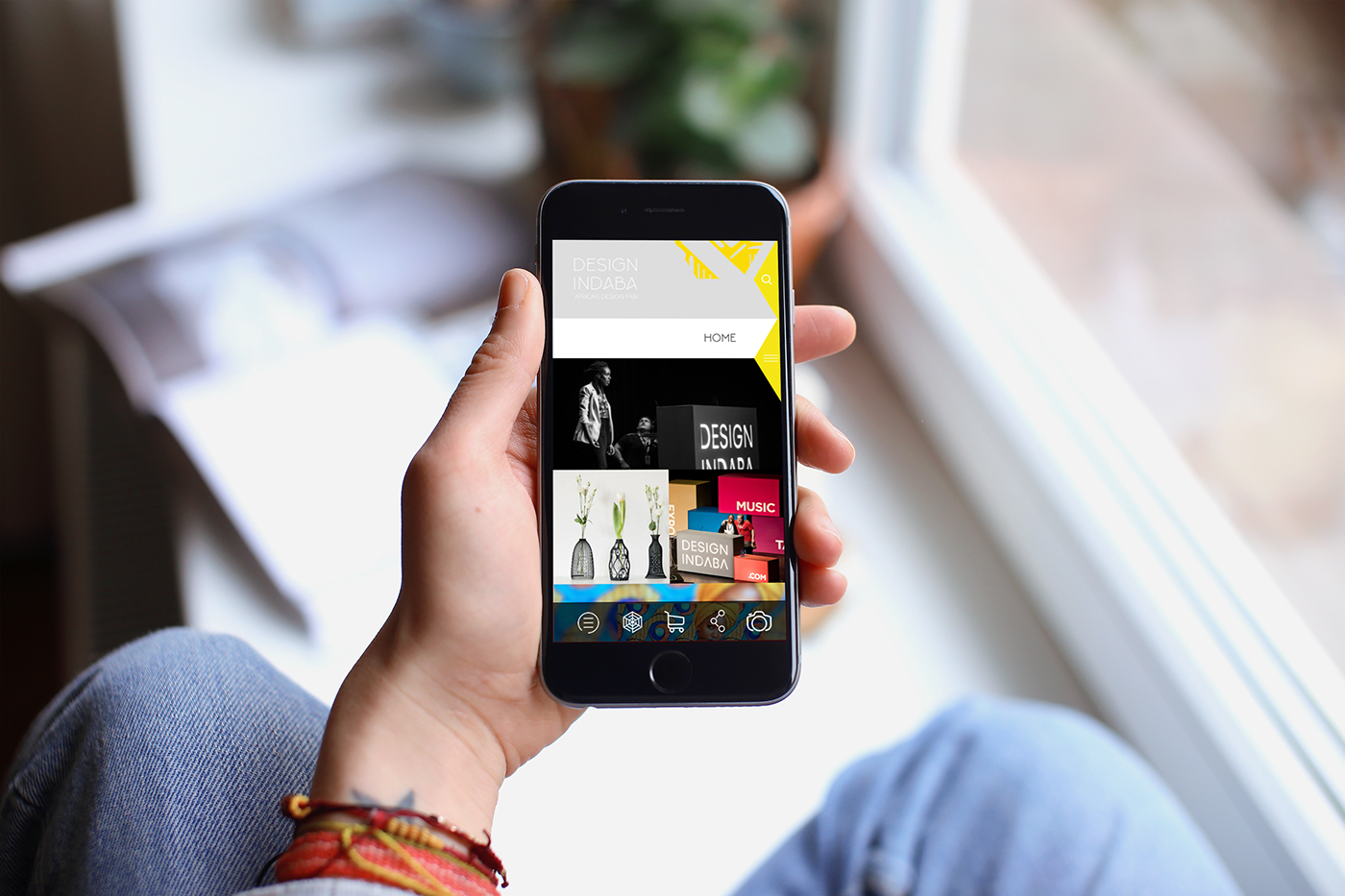 app application design ux UI handheld media graphic brand