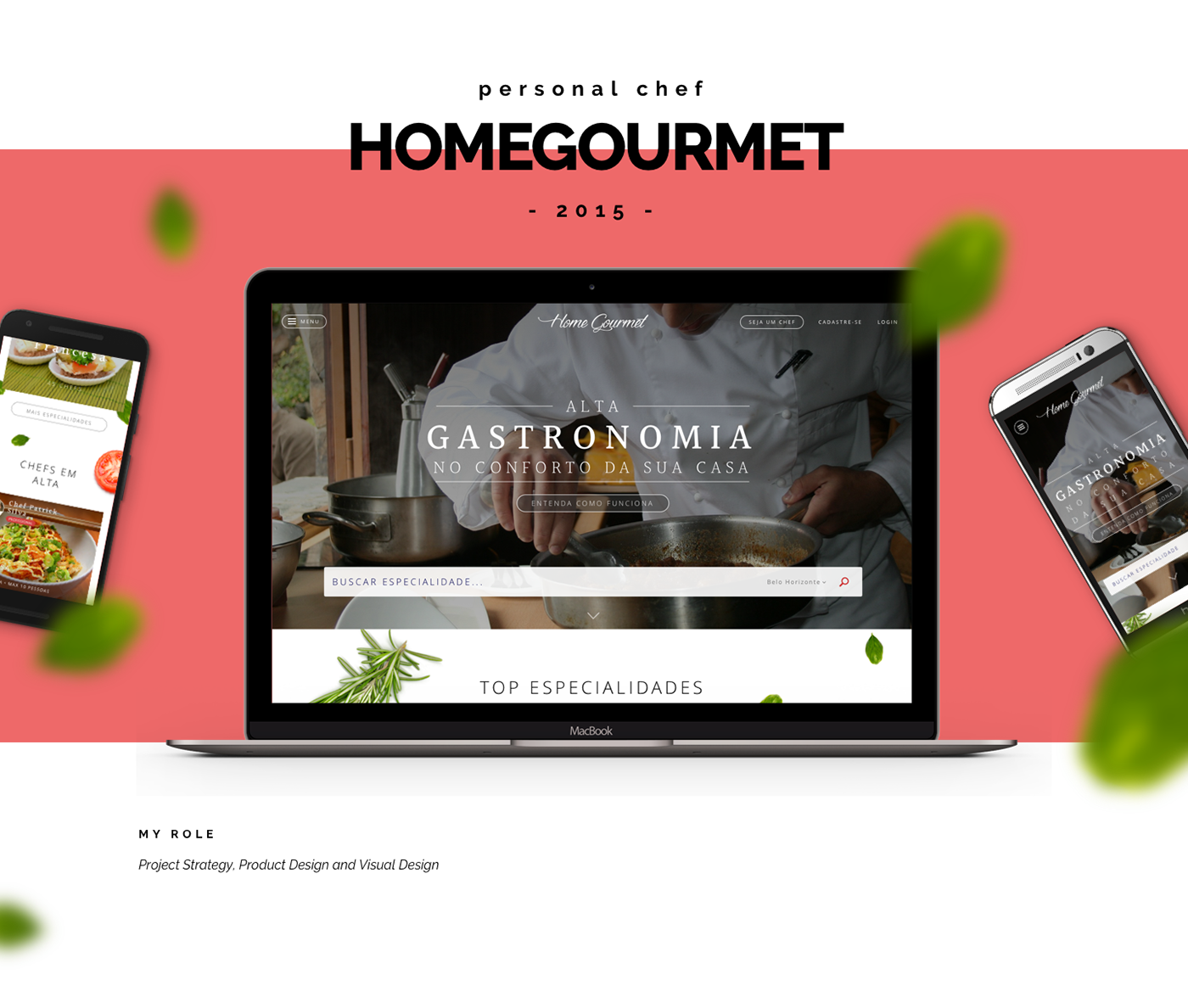 chef gourmet Web type Startup Food