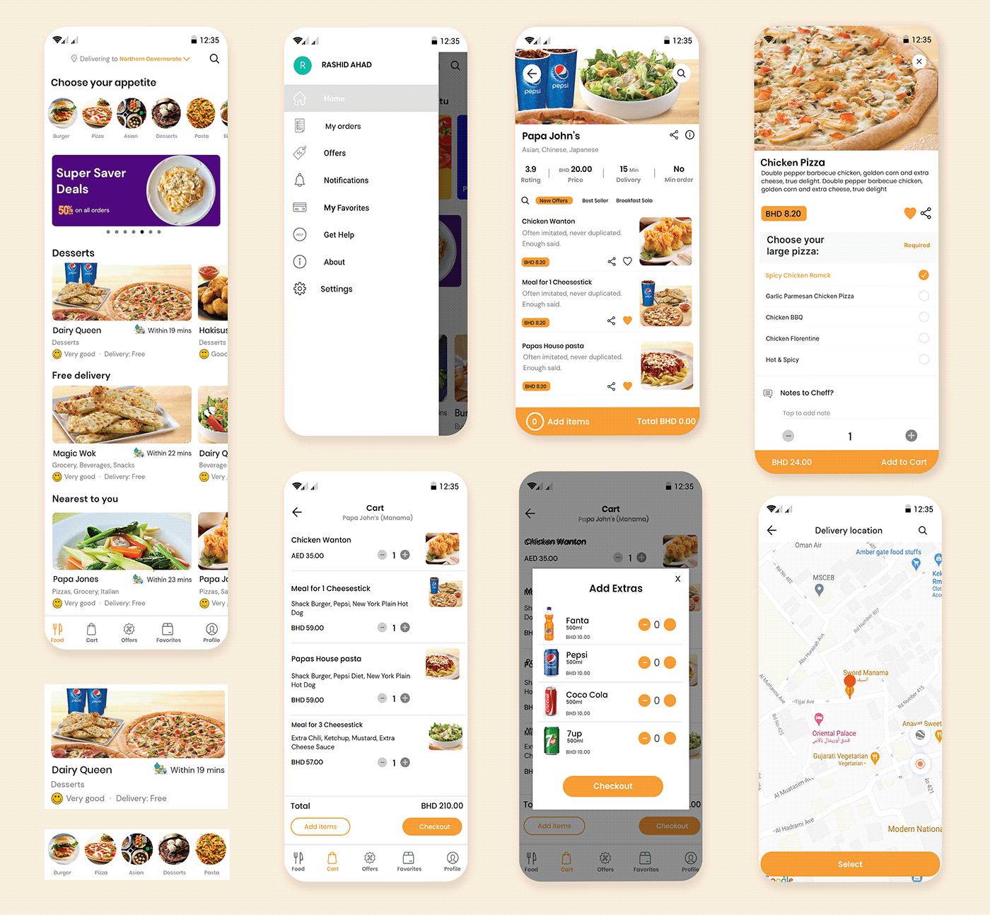 food delivery app Mobile apps Online Food Delivery App swiggy talabat zomato