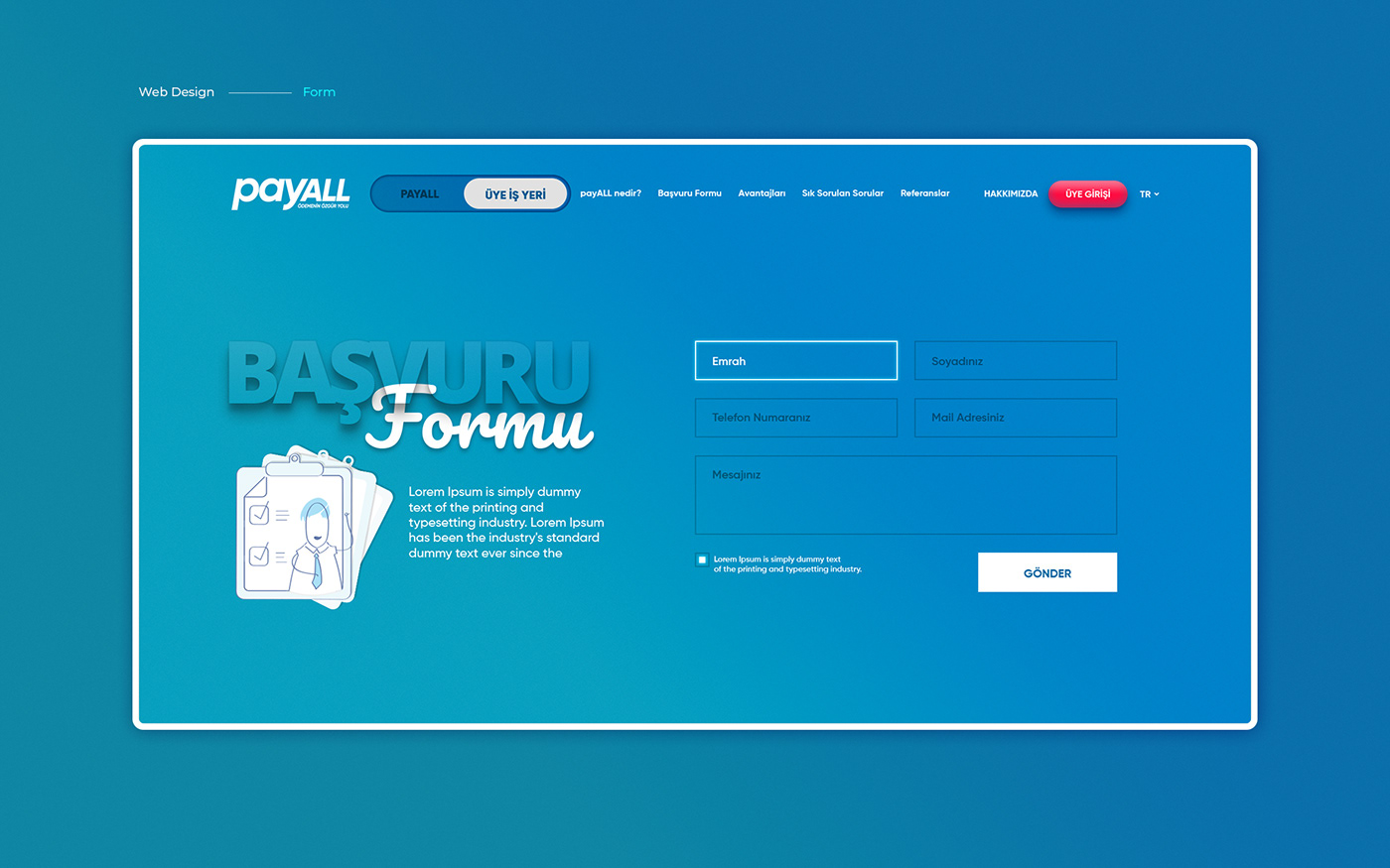 Website creative card Bank Responsive UI ux mobile clean flat