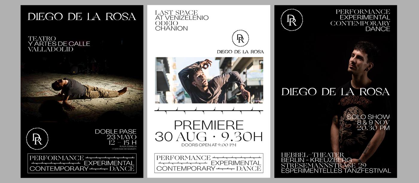 DANCE   Performance valencia monogram rose Theatre thorns custom type typography mix poster