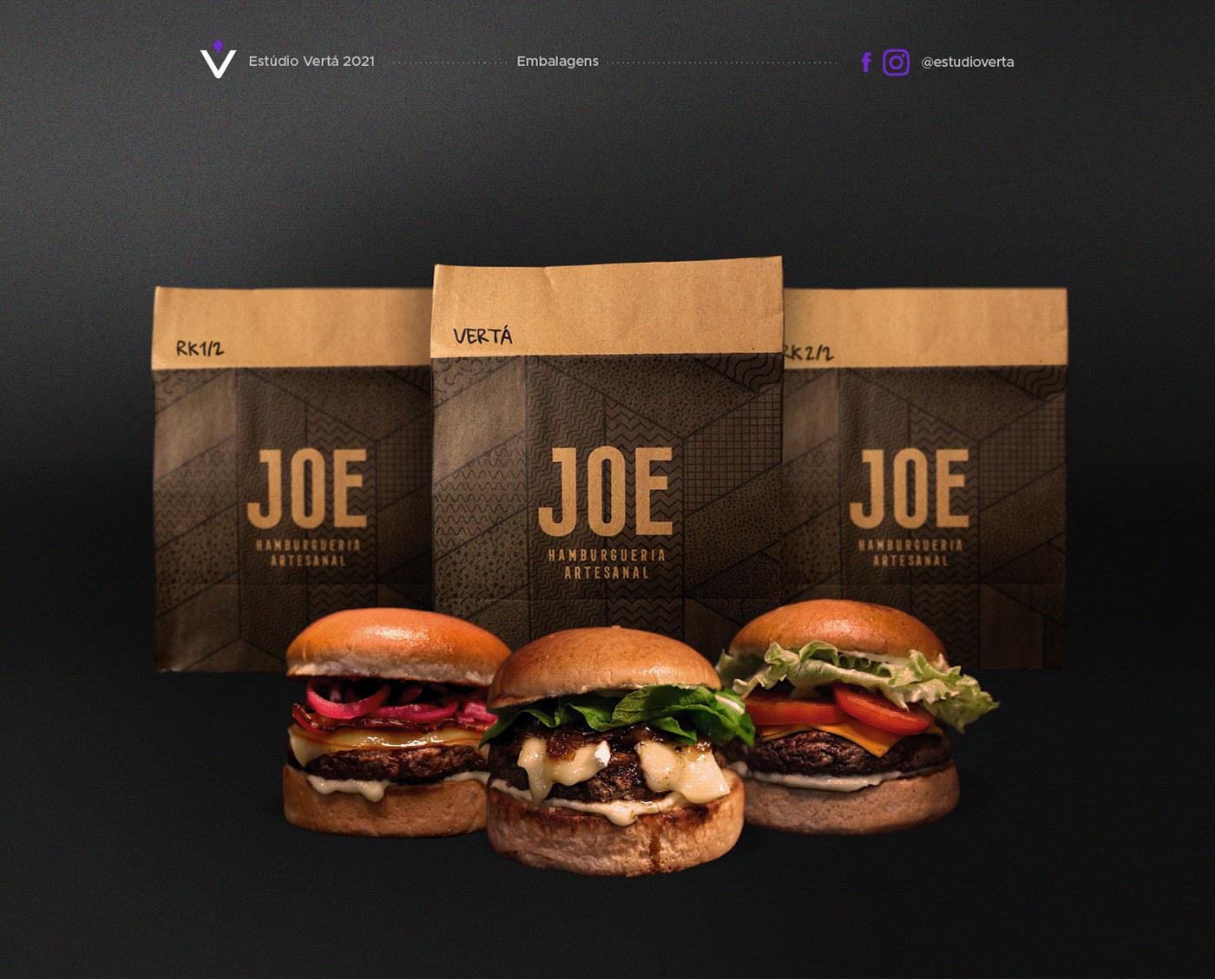 burger Design de Embalagem embalagem hamburgueria kraft paper Packaging packaging design pattern texturas
