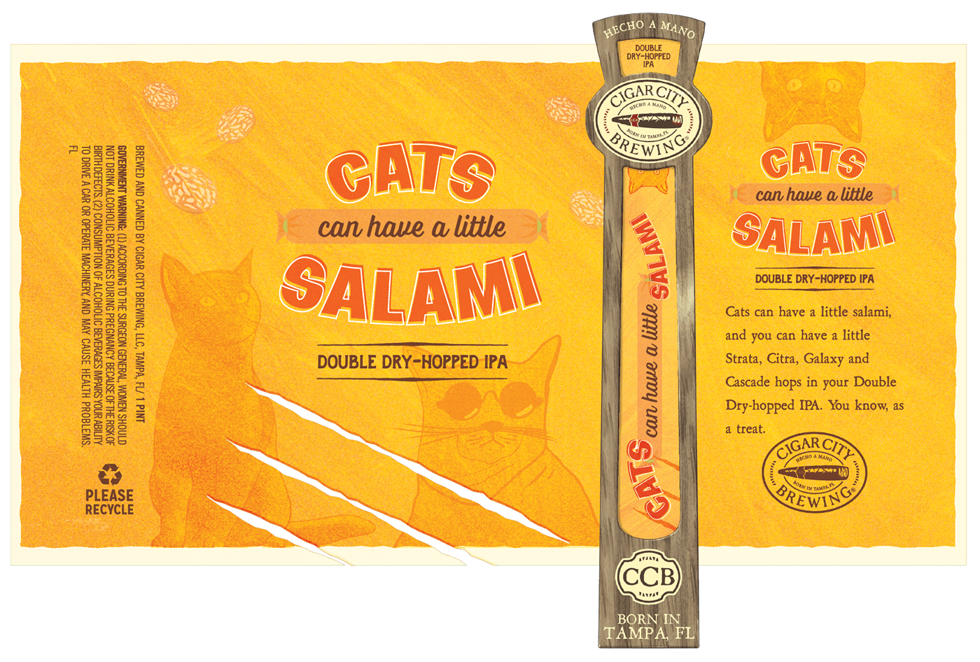 beer brewing can Cat cigar city Clites Colby craft design Label