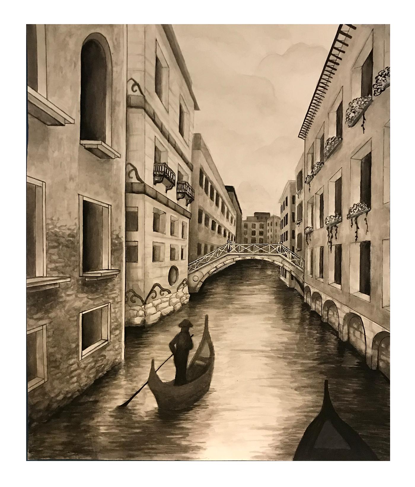 Картинки венеция рисовать