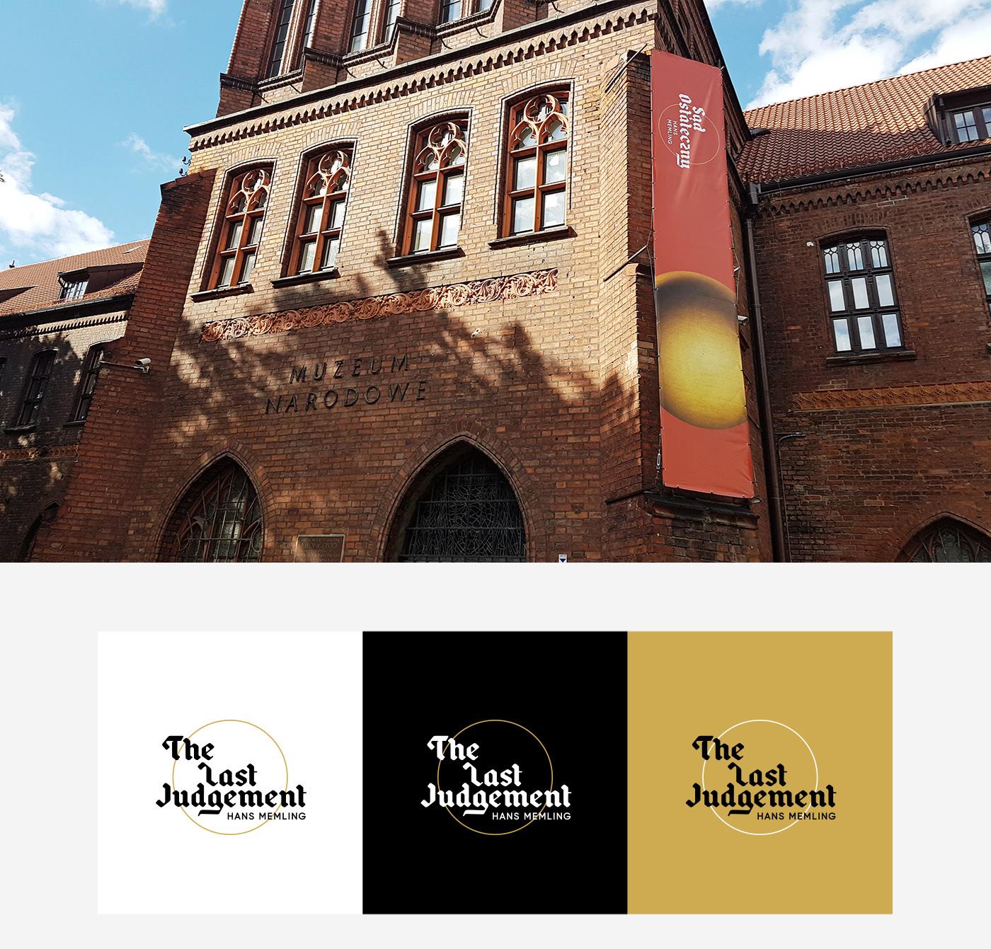 logo branding  typography   Memling painting   art museum old identity poland