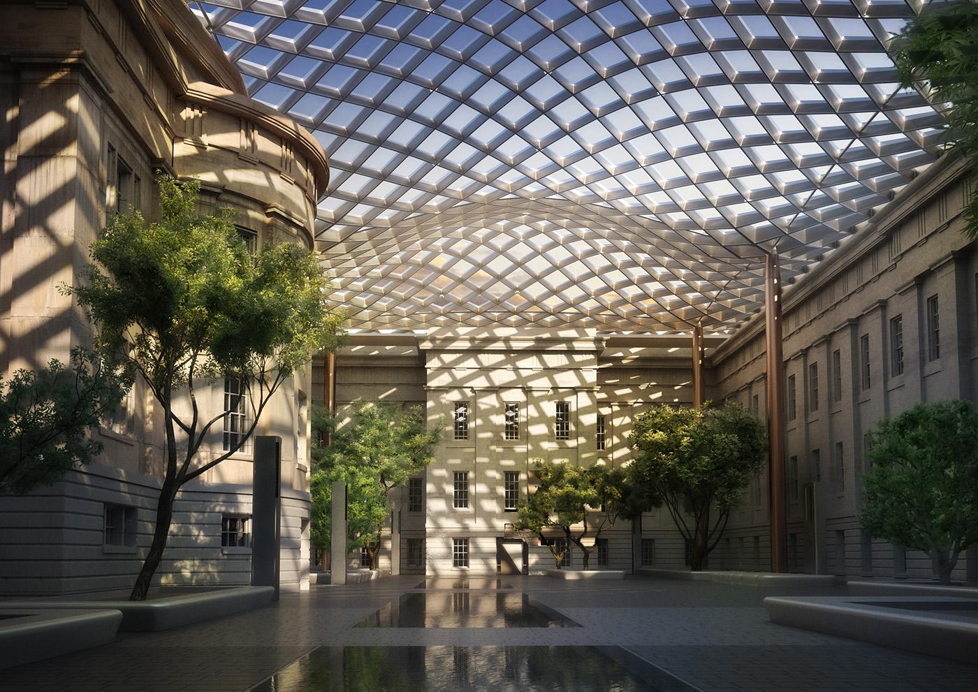 Smithsonian Portrait Gallery Courtyard On Behance