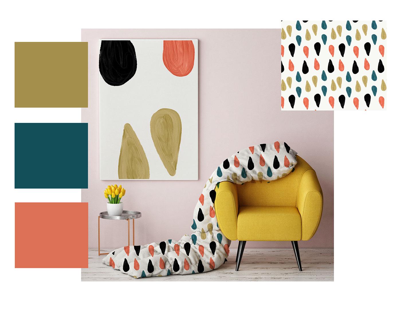 textile design Fashion  trend Interior prints pattern. graphic design  ILLUSTRATION