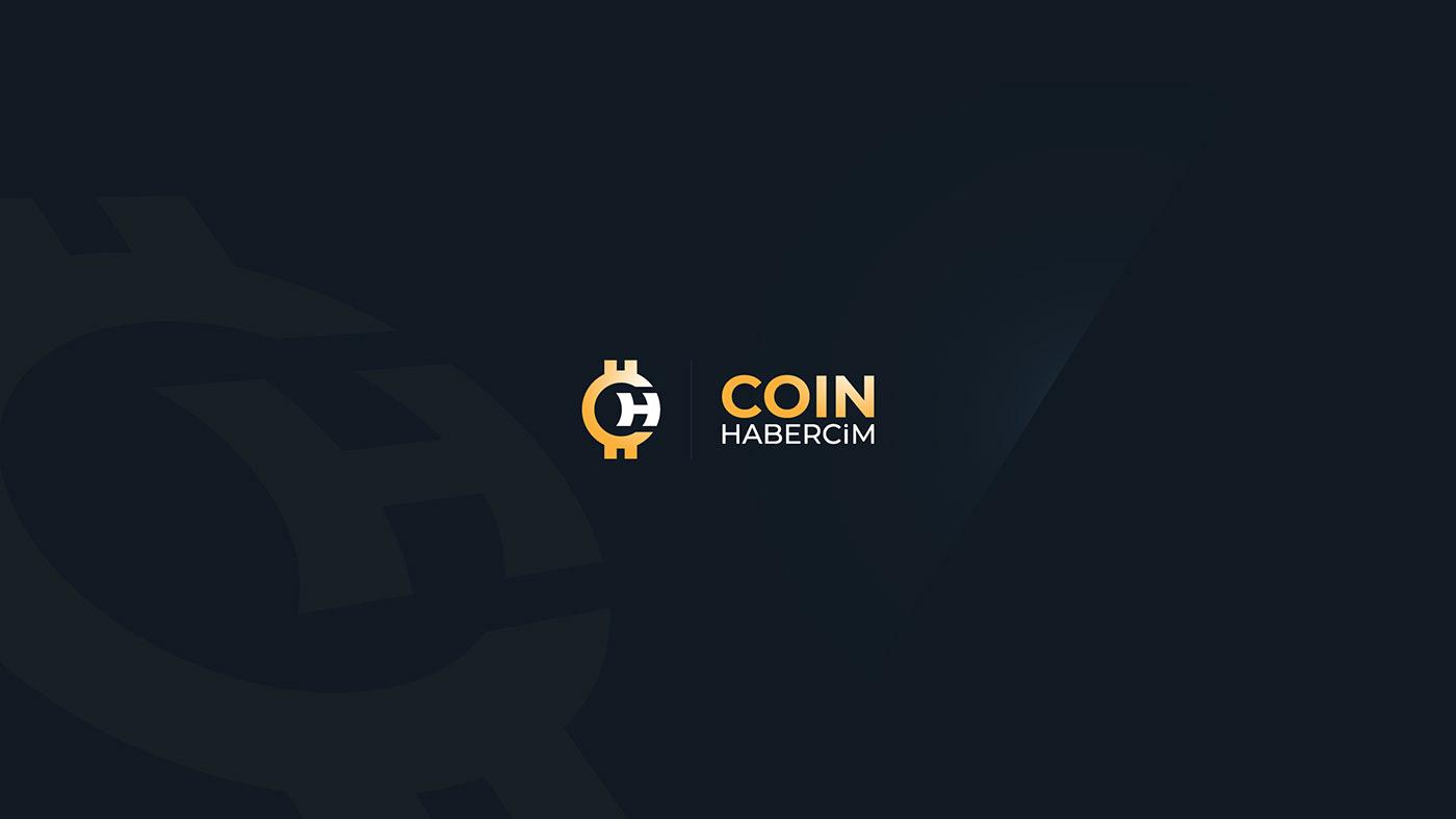 bitcoin coin coin news haber logo animation social media template