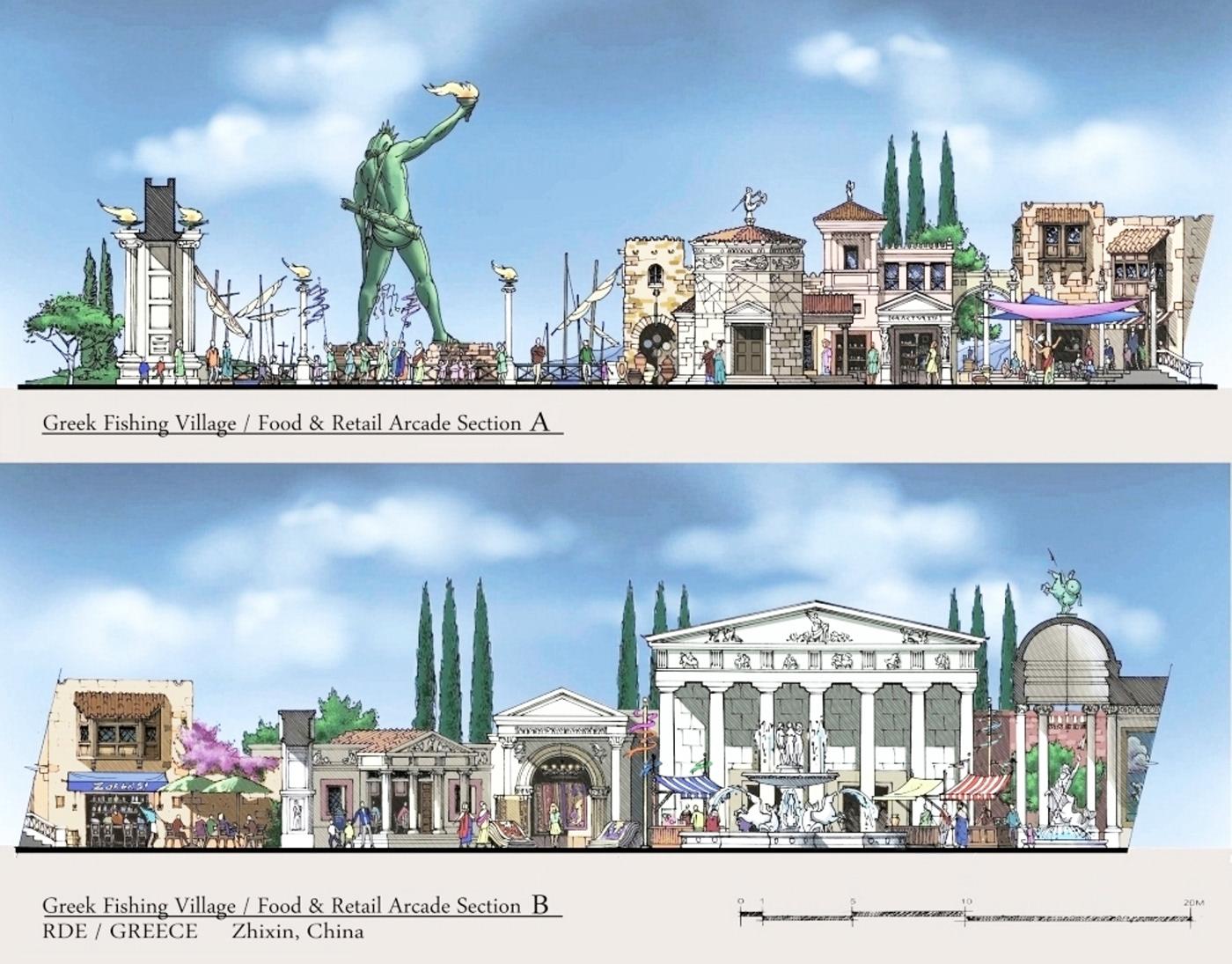 disney Walt Disney Imagineering Theme Park themepark amusement park restaurant themed restaurant show building themed architecture Elevation theme architecture disneysea disney sea dreamworld