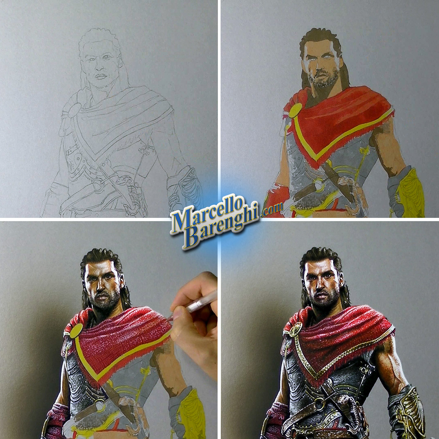 Drawing Alexios Assassin S Creed Odyssey On Behance