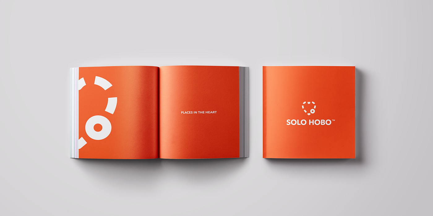 orange minimal social app network Travel adventure passion heart