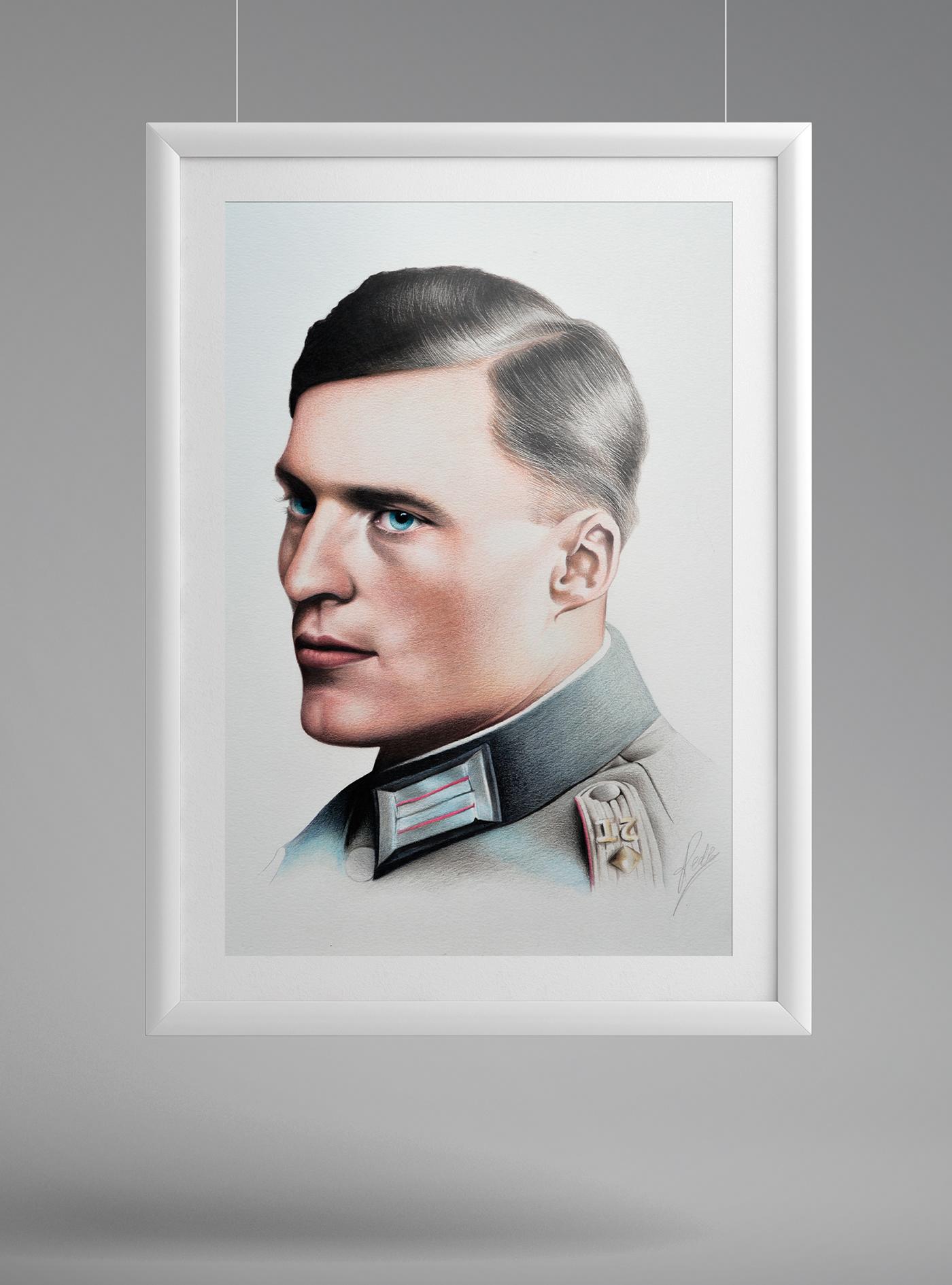 valkyrie ILLUSTRATION  art Drawing  portrait potraiture fine art figurative pencil paper