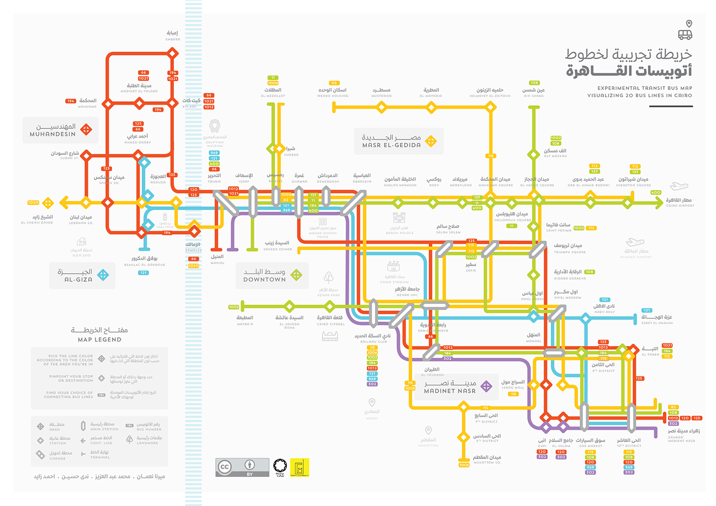 Experimental Cairo Transit Bus Map on Behance