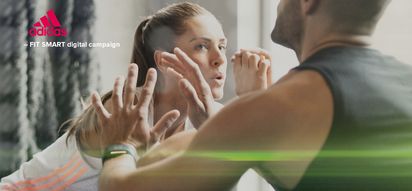 adidas micoach digital campaign Fit Smart video Web Banners visual effect