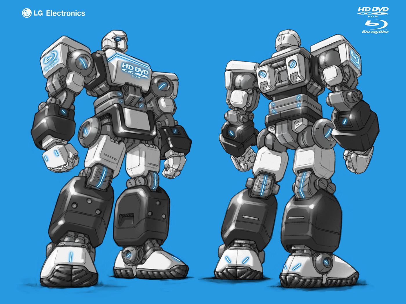 animation  Korea Mechanic robot Character design  concept design Cyberpunk future LSMC minimal