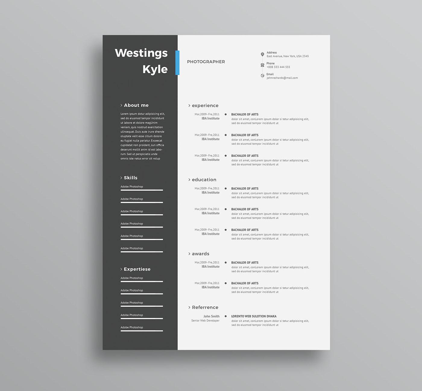a4 resume,tempalte,clean,Resume,Creative Resume,CV,cv doc,cv elegant,template,cv word