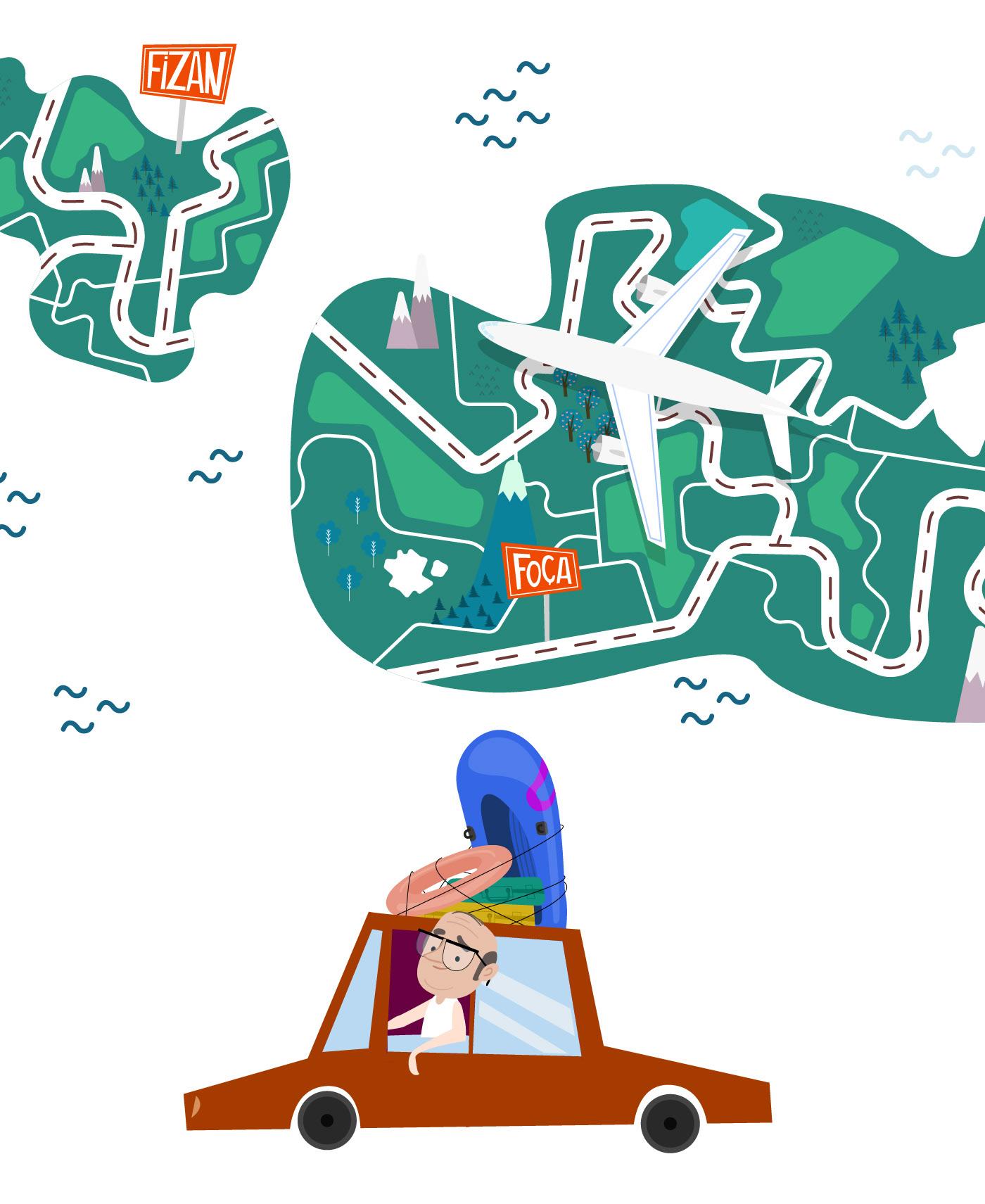 2D Animation character animation bkm BKM Express harçlık avı motion design Mobil App