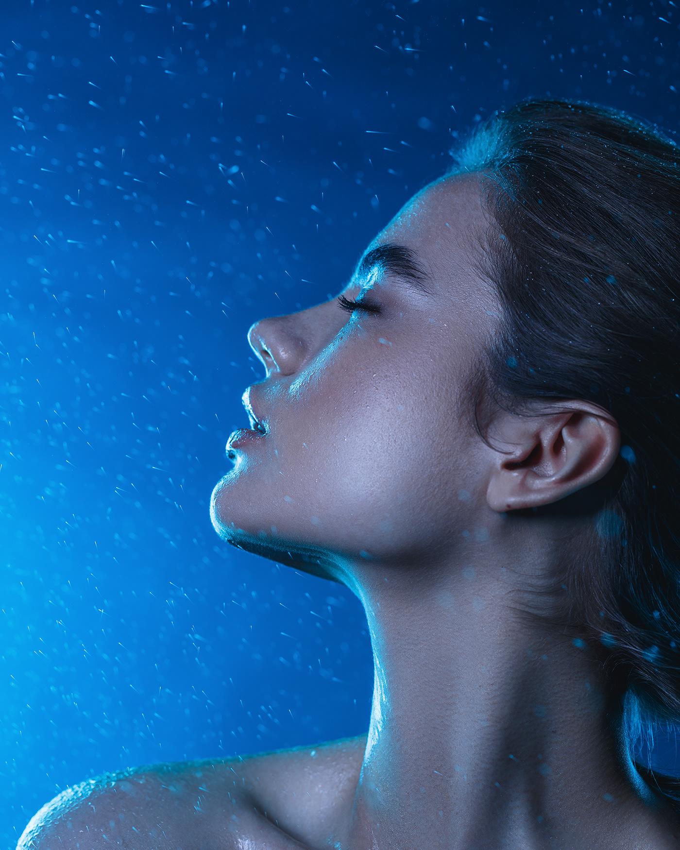 beauty portrait editorial retouch beauty photography beauty retouch beauty editorial Fashion  water aqua