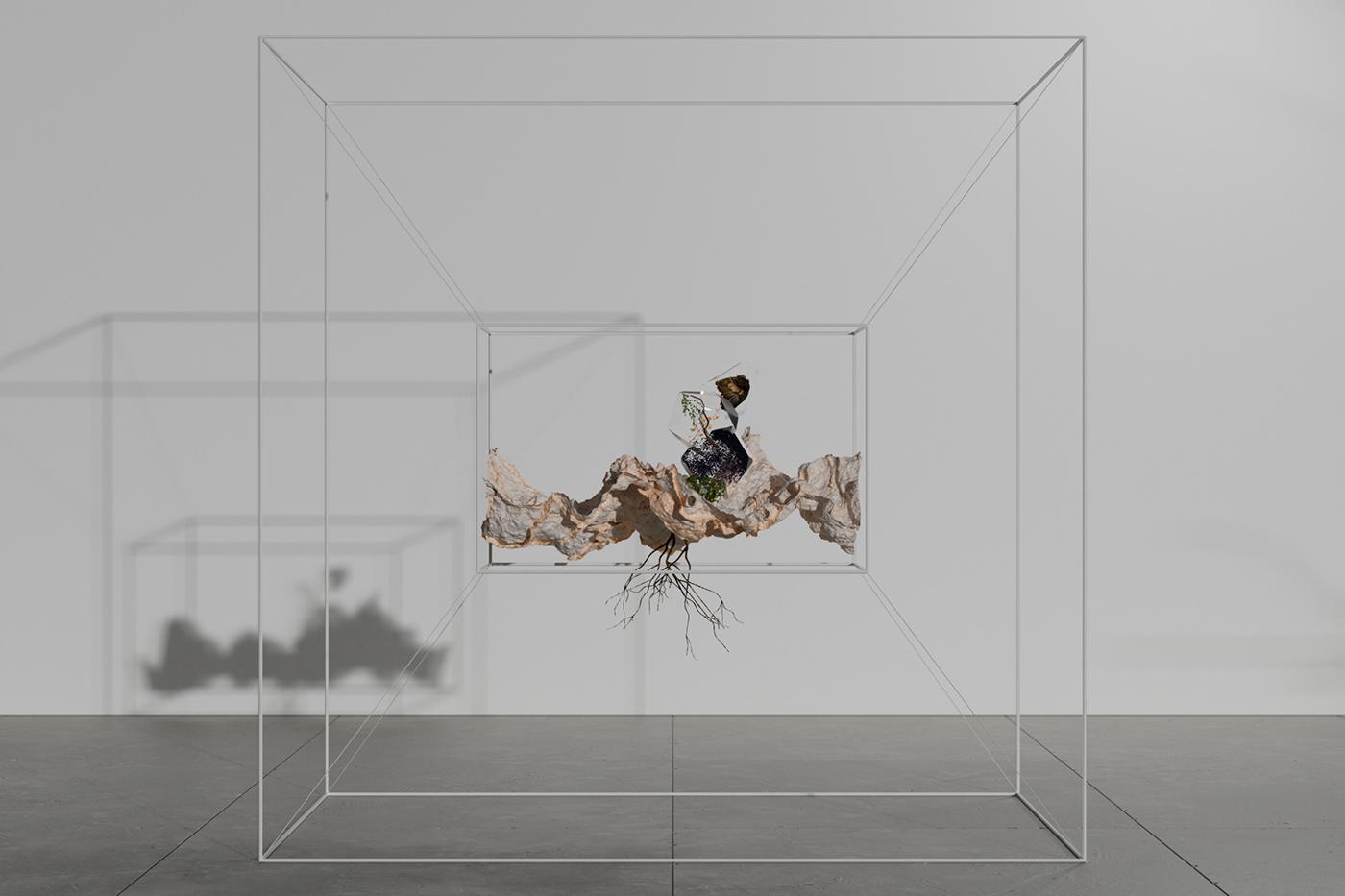 3D 3d design animation  art CGI design Fluid Simulation houdini Procedural