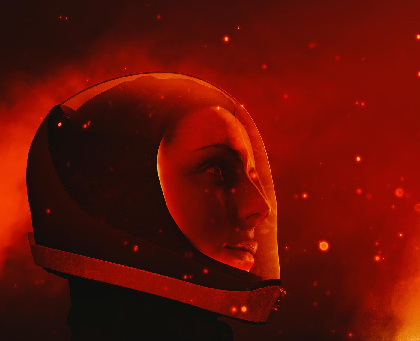 3D c4d environment explore font ILLUSTRATION  Movies Scifi Space  typography