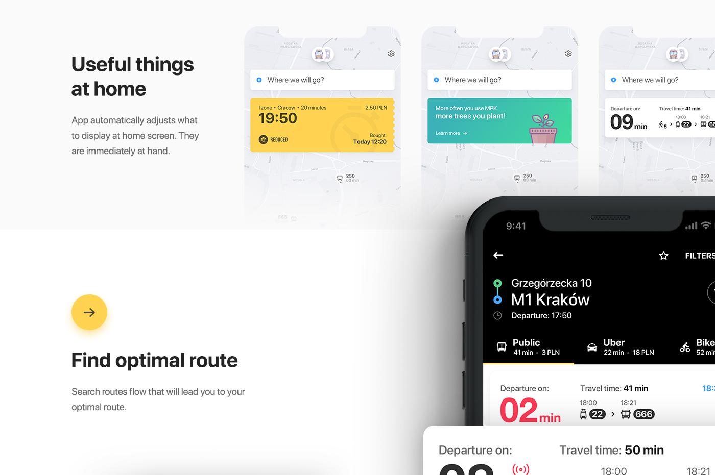 app UI ux interaction animation  ios Transport train tickets trip