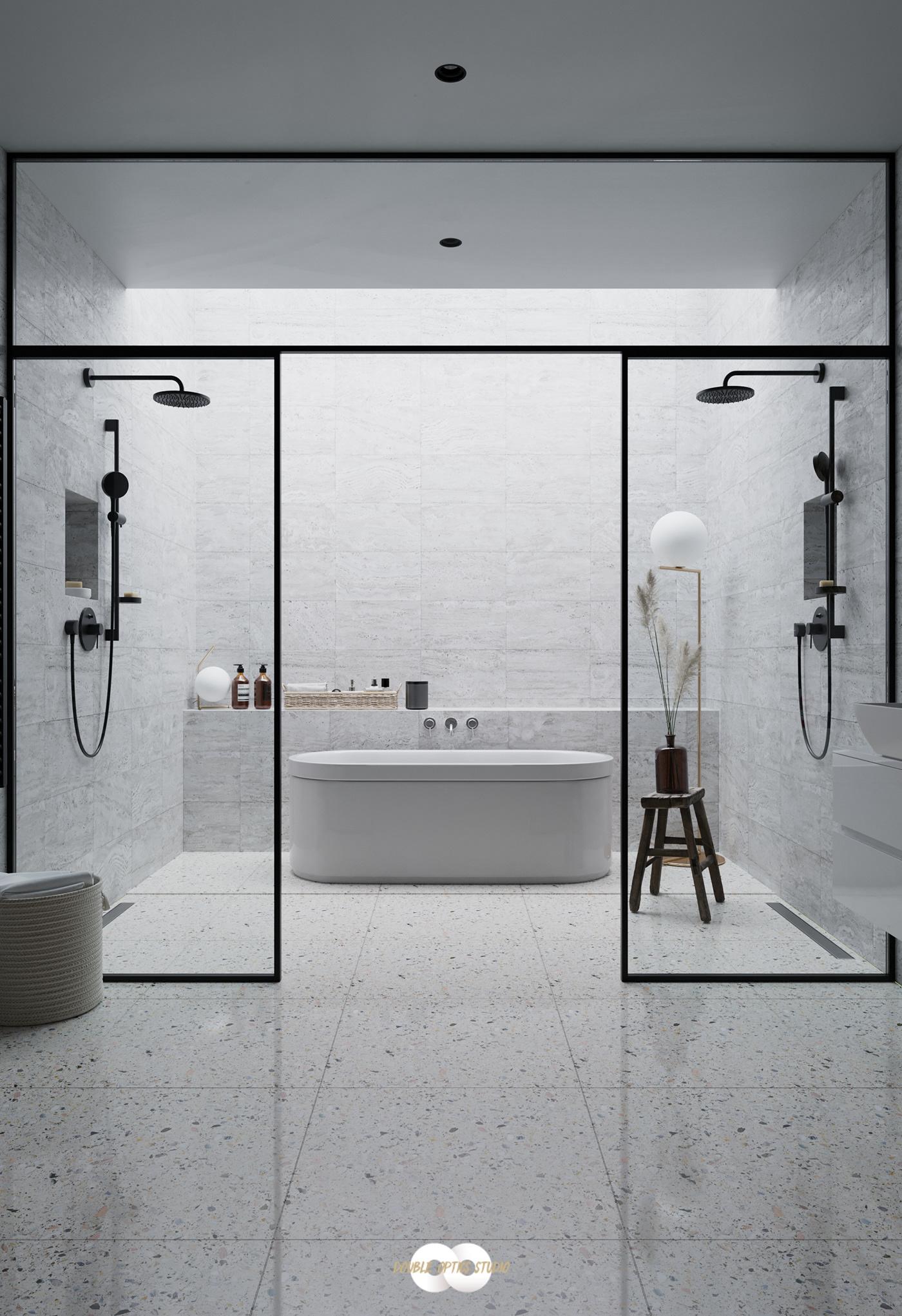 bathroom 3D CGI architecture Interior design visualisation 3drender interiordesign luxuryliving