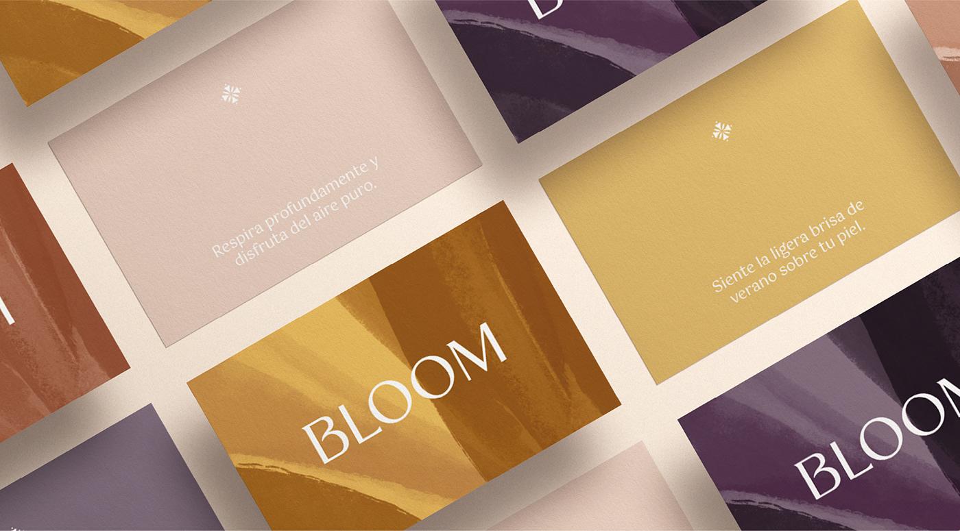 Tarjeta personalizada para las velas de Bloom