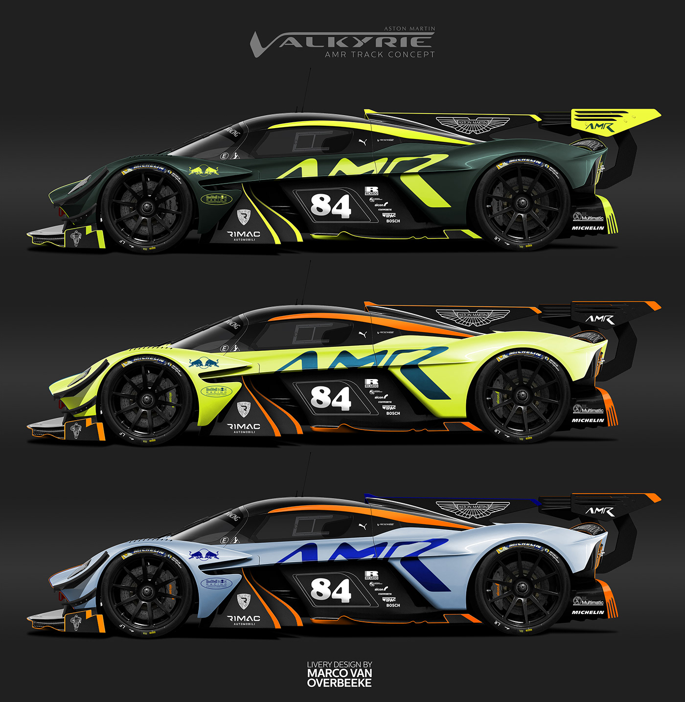 Aston Martin Valkyrie Sport: Aston Martin Valkyrie AMR Pro Livery Concepts On Behance