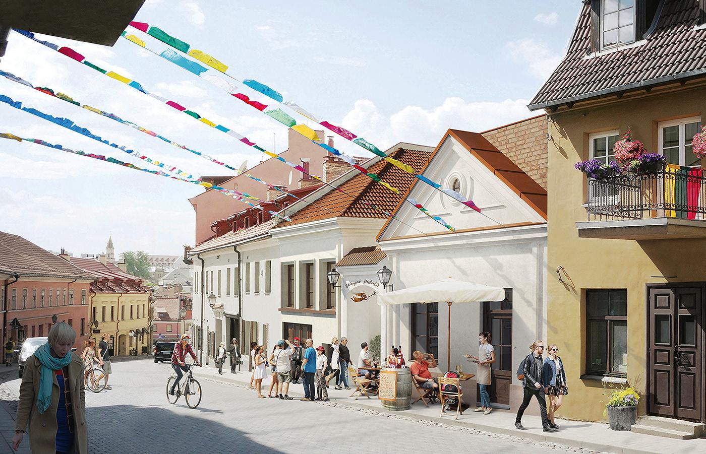 oldtown visual visualization vilnius visualisation lithuania architecture