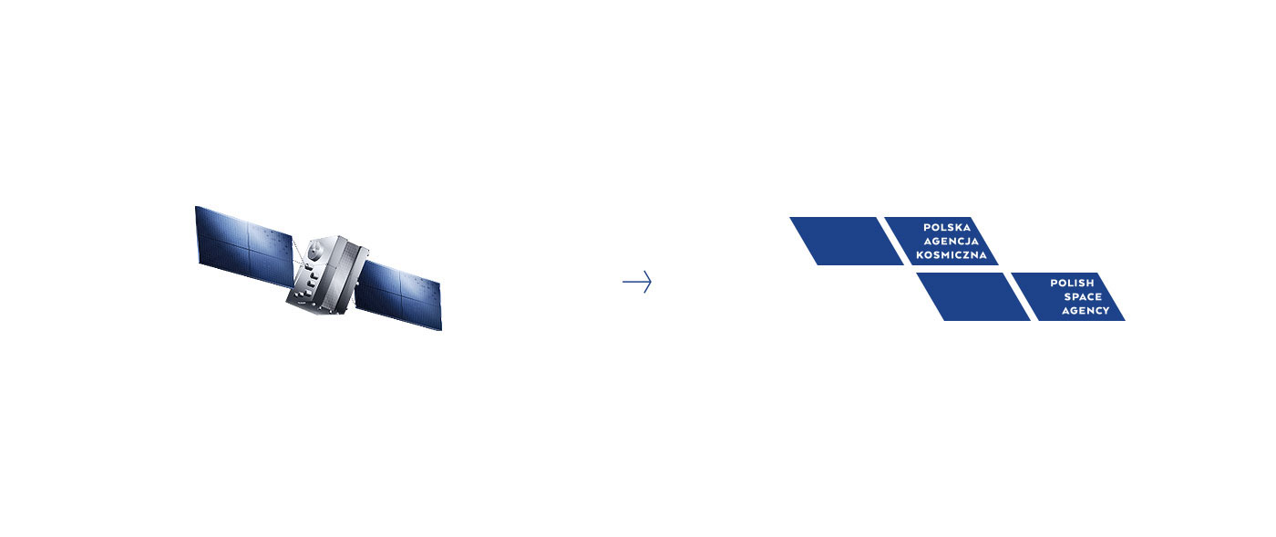 polska agencja kosmiczna Polish Space Agency polsa pak logo kosmos Space  identity rhombus