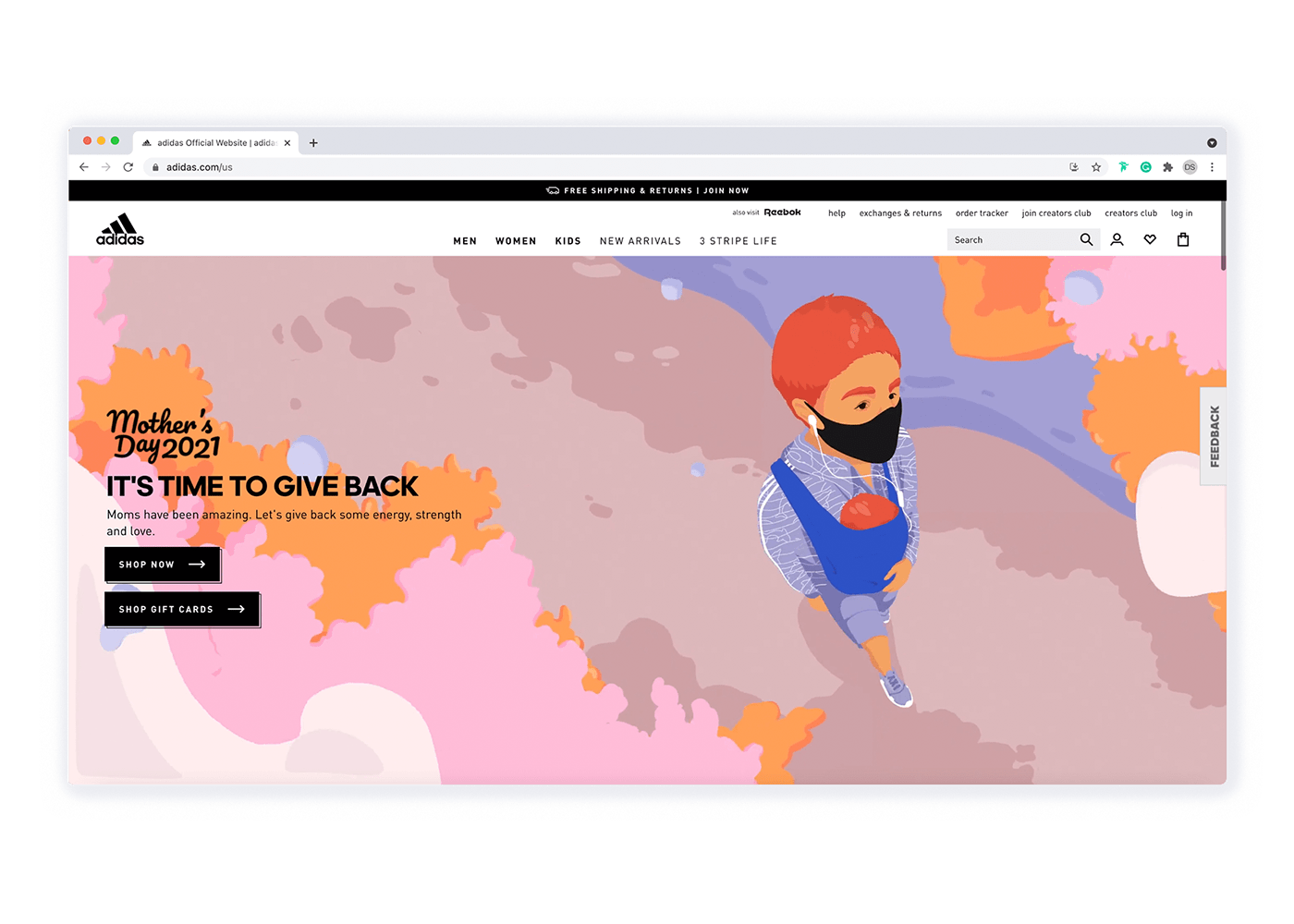 adidas animation  Digital Art  Global Campaign ILLUSTRATION  mothersday motion advertisment Diversity womxn